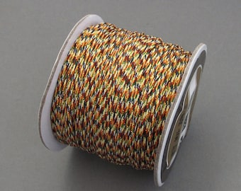 One Roll Colorful Silk Jewelry Cord Finding For Bracelet/Pendant/Necklace/Hanging/Craftwork  ja621