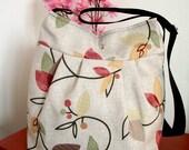 Crossbody Bag Quilted Diaper Bag Messenger Bag Floral Shoulder Bag School Teacher Bag Travel bag Canvas Weekender Bag