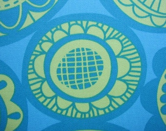 SALE...decorator fabric, erin mcmorris fabric, cartwheel teal 1 yard