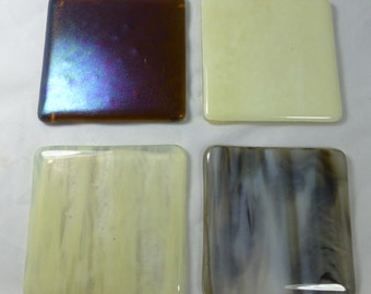 Fused Glass Coasters set of 4 to match Brown Cream Interior Design