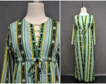 1970s Striped Robe