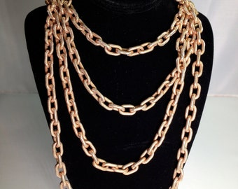 Napier Cable Chain Costume Jewelry Gold-FIlled Elegant Vintage Necklace
