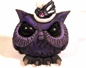 Ophelia the Owl Polymer clay sculpture covington creation original art collectible