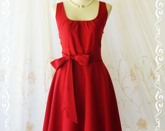 Blood red dress red party dress red prom dress red bridesmaid dresses red vintage dress style red sundress day dresses