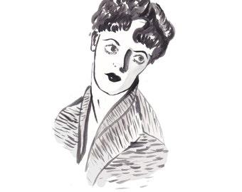 Illustration // Helen Morgan // Torch Singer // 1920s