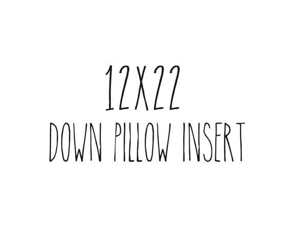 """12"""" x 22"""" Pillow Insert Form Down Feather Fill Lumbar"""