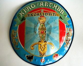 Vintage Marx Toy / King Arthur Excalibur Shield / Tin/ 1950s