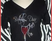 Birthday Diva Tshirt Rhinestone Birthday Shirt s m l xl 2x 3x available Great Girls Night out Birthday Trips Girls weekend Birthday Shirt