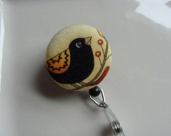 Retractable Badge Reel - Black Crow