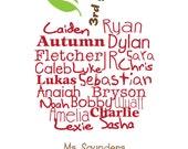 Custom Apple Name Print for Teacher - PRINTABLE