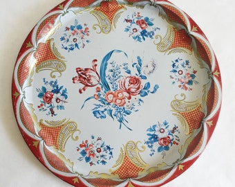 Vintage Daher DecoratedWare Flower Tin Serving Tray