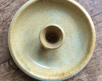 Shearwater pottery candle holder