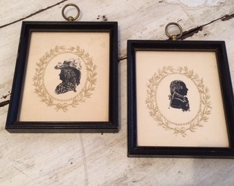 1960s Vintage Silhouette Frame - Set of 2