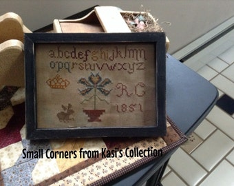 Primitive early style R.C. 1851 sampler repro