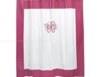 SALE Monogrammed Shower Curtain