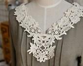 Cotton Applique - 1 pcs Light Beige Applique for Altered Couture, Costume Design (A185)
