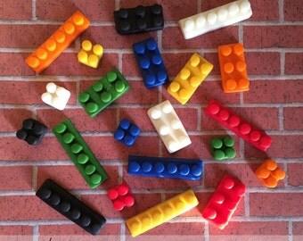 EDIBLE (Fondant Toppers) - Lego Pieces