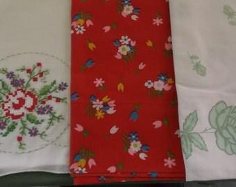 Vintage Pillowcases Cotton Blend, 3 Mismatched Pillowcases