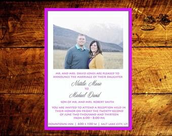 photo wedding invitations, modern wedding invitations, wedding invitations, wedding invites, unique wedding invitations