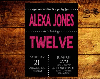 birthday invitations, custom birthday invitations, adult birthday invitations, birthday party invitations, birthday invites