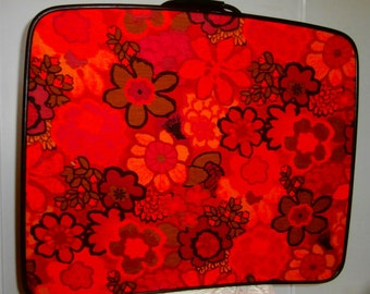 Large Flowered Suitcase