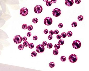 FREE U.K postage - Swarovski Flat-Back Crystals 2038 - Hot Fix - ROSE