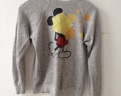 vintage small mickey mouse sweatshirt with shapes