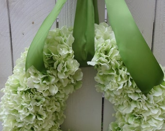Spring and Summer Hydrangea Wreath   Mothers Day Gift   WREATH SALE    Hydrangea Wreath    Wedding Wreath  Green Wreath