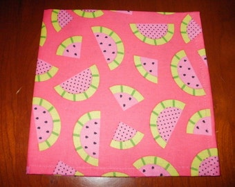 Sale...Napkins...6 Pink...17 inches...Stitched Hems NOT Serged...FREE SHIPPING