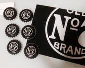 6 Pack Jack Daniel's Old No. Bottle Cap Magnets