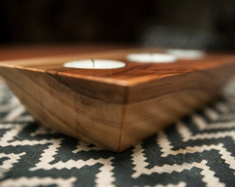 Candle Holders // Reclaimed Wood // Triple