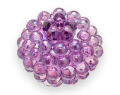10 PURPLE AB Berry Beads 15mm Chunky Beads Lucite Vintage Style H105