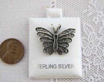 Butterfly filigree Sterling Silver Pendant, Sale