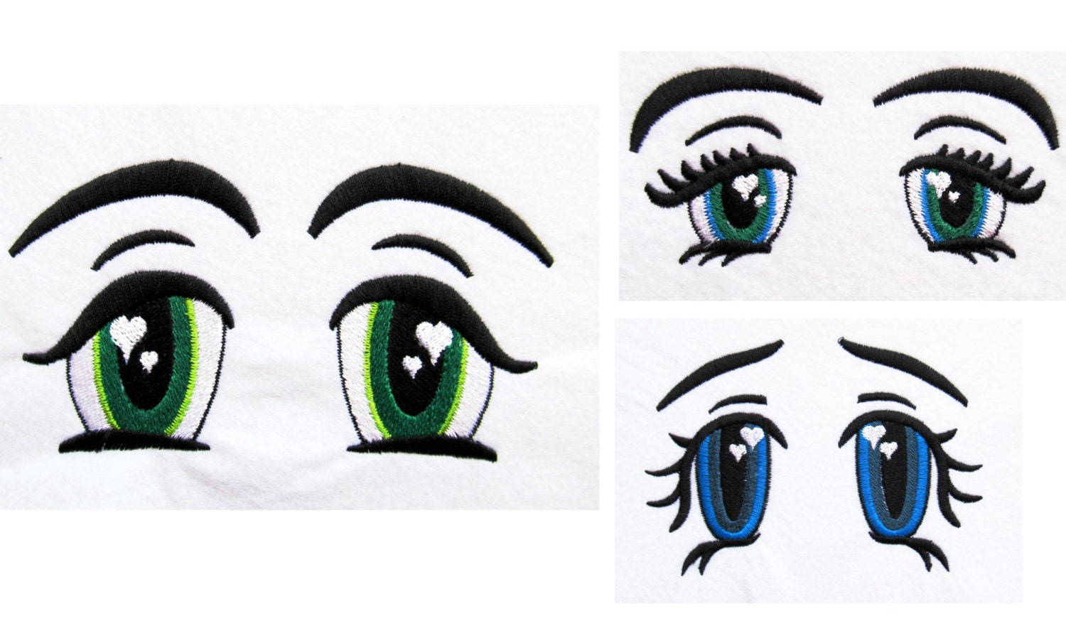Pretty eyes in love machine embroidery designs many