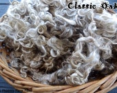 "2 oz Washed Mohair Locks, ""Classic Oak,"" Light Brown, Wheat, Angora Goat Fiber, Curly Locks, Doll Hair, Lockspun, Tailspun, Blending Locks"