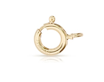 14Kt Gold Filled 8mm Spring Ring With Fixed Open Ring - 5pcs 40% DISCOUNTED Lowest Price (3014)/1