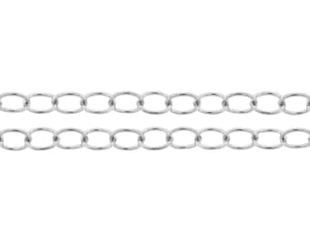 Jewelry chain Sterling Silver 5x4mm Cable Chain - 5ft 20% discounted Strong chain Made in USA (2317-5)/1