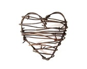 Rustic Wedding Decor Barbed Wire Heart - Cowboy's Heart - wedding gifts for him her man cave decor