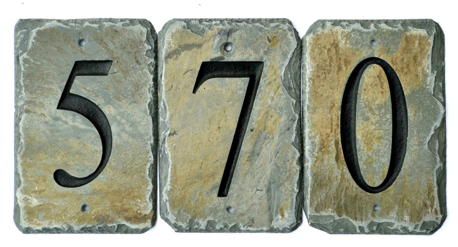 Stone house number tiles reclaimed slate mailbox post zoom dailygadgetfo Images