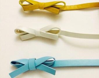 Robin Blue Only Bow belt fits XS S M L XL