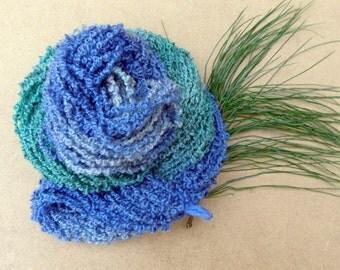 Hand Dyed Bulky Yarn - BFL and Masham Chunky Loop Yarn - 100g - Poodle - British Yarn