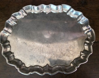 Vintage English Heavy Metal Serving Tray circa 1940-50's / English Shop