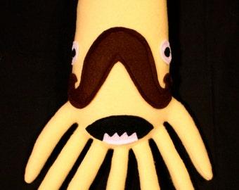 MINI PLUSH MONSTER Jonathan in Pale Yellow Mustache Squid