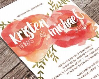 Printable Wedding Invitation - Bloom