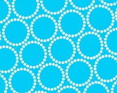 Mini Pearl Bracelets in Light Teal Blue by Lizzy House for Andover Fabrics