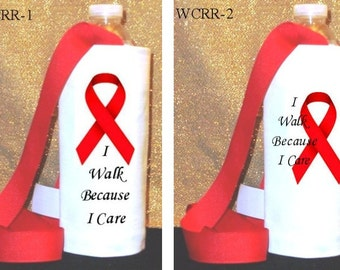 Red Ribbon Water Caddy to Suport Cancer 5K Run/Walk
