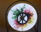 Peace Recycled CD Clock Art