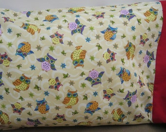 Cute Owls Pillowcase   Travel/Toddlers Size