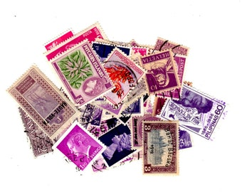 40 Purple International Stamps