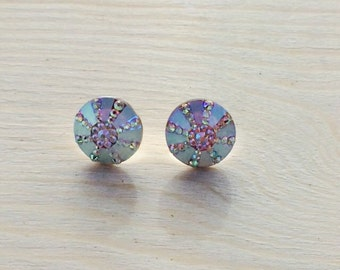 Gorgeous iridescent sea urchin earrings